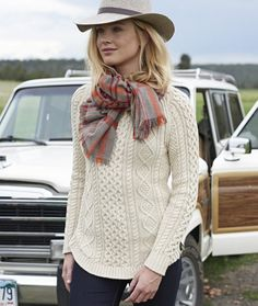 Signature Cotton Fisherman Tunic Sweater | Wears | Pinterest ...