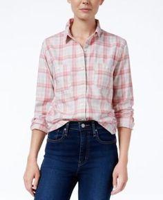 Levi's Plaid Workwear Boyfriend Shirt - Pink XS