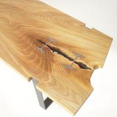 Elm Inset I-Beam Table by Ben Dagitz