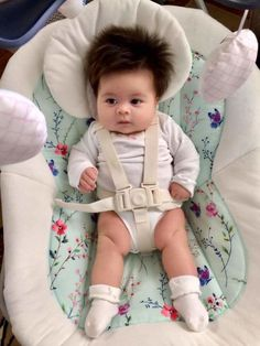 dd7c75e0cd71 This 2-Month Old Baby Already Has the Most Incredible Head of Hair