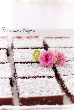 coconut truffles...