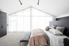Ronnie & Georgia delivered their Master Suite in week 6 of The Block Bedroom Photos, Bedroom Inspo, Home Decor Bedroom, Bedroom Inspiration, Bedroom Ideas, The Block, Master Suite, Master Bedroom, Beautiful Bedrooms