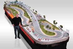 Hot Wheels on Steroids! Custom and museum quality replicas of actual raceways by Slot Mods will blow you away even if you don't play with toy cars. The perfect hand built slot car racing tracks are finely detailed, beautifully crafted and start at $15,000.
