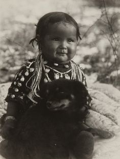 Untitled (Native American Child with Dog) by Museum of Photographic Arts Collections, via Flickr