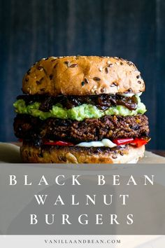 Nourishing, and delicious with a bit of a kick, Black Bean Walnut Burgers with Saucy Sweet Onions are freezer friendly and easy to pull together. #burgers #blackbeanburger #walnutburger #vegan #veganburger #vegetarian | vanillaandbean.com @vanillaandbean