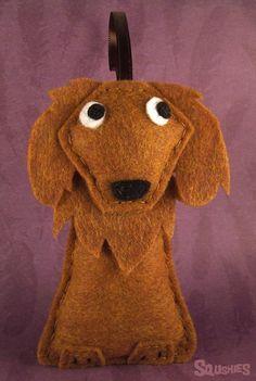 Felt Dog Ornament - Cinnamon the Golden Retriever