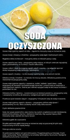 NIEZWYKŁE WŁAŚCIWOŚCI SODY OCZYSZCZONEJ O KTÓRYCH NIE MIAŁAŚ POJĘCIA :) Homekeeping, Simple Life Hacks, Slow Food, Natural Cleaning Products, Good Advice, Better Life, Food Hacks, Good To Know, Cleaning Hacks