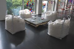 Sack-o Armchair from bulk bag by Tim Parson and Jessica Charlesworth