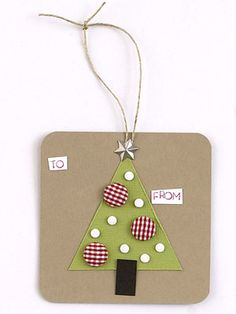 Use Scraps To Make Simple Holiday Shapes On Gift Tags