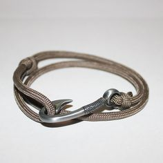 hooked on you braclet...valentines Tan Paracord Hook Bracelet by ChasingFin on Etsy, $13.00