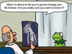 haha...little more humor :)  Kermit x-ray...
