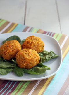 Sweet Potato Quinoa Balls recipe. An easy vegetarian recipe even I can make? Sweet!... a meatless Monday idea