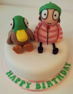 Sarah & Duck Birthday Cake