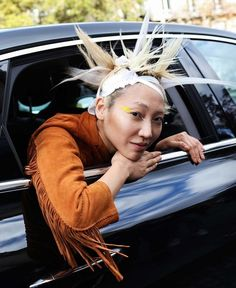 Soo Joo spotted on the street at Paris Fashion Week. Photographed by Phil Oh.