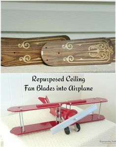 Repurposed Ceiling Fan Blades Collage