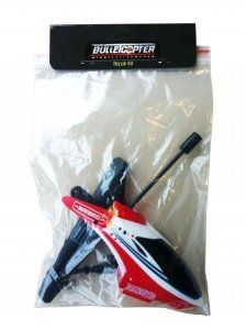 My Web RC - Bullet Copter repair kit by Groovy Toys LLC. $26.16. Includes: Set of Main Blades 1pc, Tail Rotor 1pc, Balance Bar 1pc, Inner Shaft 1pc, Buckles 2pcs, Body Frame 1pc, Tail Supports (Screws + Buckles) 2pcs, Screws 6pcs, Missiles 6pcs. Fits My Web RC 2012 Bullet Copter. My Web RC - Bullet Copter repair kit. Includes: Set of Main Blades 1pc, Tail Rotor 1pc, Balance Bar 1pc, Inner Shaft 1pc, Buckles 2pcs, Body Frame 1pc, Tail Supports (Screws + Buckles) 2pcs, Screws 6p...