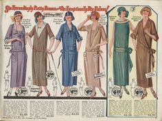 1924 Belle Hess- Women's 1920s day dresses and house dresses. Casual. Simple. elegant and very comfortable.