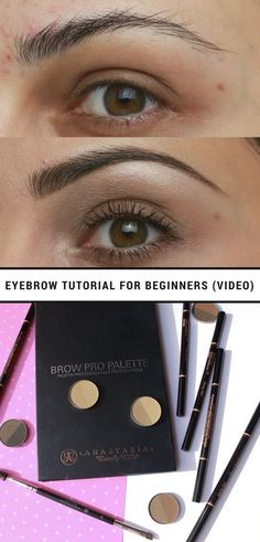 Trendy makeup for beginners eyebrows watches ideas Long Eyebrows, How To Do Eyebrows, How To Apply Eyeliner, Eye Brows, Long Eyelashes, Natural Eyebrows, Eyebrow Tutorial For Beginners, Makeup For Beginners, How To Shape Eyebrows For Beginners