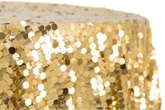 Large Payette Sequin on Mesh Base tablecloth. These tablecloth add a touch of glitz and glamour to any event. Wedding, Birthday Party, Bridal Shower, New Years Day Party. Color: Gold Size: inch round with seams Sequin Size: Sequin Tablecloth, Round Tablecloth, Wholesale Tablecloths, Anniversary Parties, Table Linens, Sweet 16, Bridal Shower, Gold Sequins, Masquerade