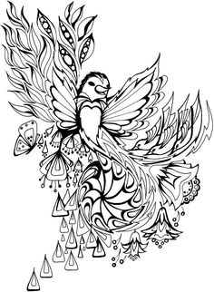 402 Best Dover Samples - Butterfly, Bird and Flower Colouring Pages ...