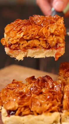 Cornflake Tart ~ Recipe is part of Cornflake tart recipe Recipe with video instructions Hands up if you remember this one from school! Tray Bake Recipes, Tart Recipes, Sweet Recipes, Baking Recipes, Cornflake Tart Recipe, Cornflake Cake, Cornflake Recipes, 13 Desserts, Dessert Recipes