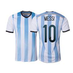 Top A+++ 2014 World Cup Argentina Home Messi KUN AGUERO soccer jersey Grade  Original thai quality