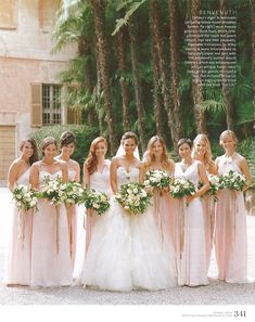crissy tegan wedding dresses | ... Chrissy Teigen! Her maids look ethereal in their pastel pink dresses