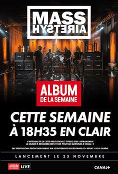 Ne ratez pas Mass Hysteria dans l'ALBUM DE LA SEMAINE sur CANAL+ !  NOUVEL ALBUM ACTUELLEMENT DISPONIBLE Ecoutez «L'enfer des dieux»  ICI ; https://youtu.be/lbpVE5gjm1s   « Furieuses, furieux : plongez la tête la première dans la Matière Noire ! » - Rock Hard  (Album du mois)   « Doté d'une prod impeccable, de musiciens talentueux, d'une musique percutante et de paroles engagées qui font réfléchir... une œuvre sincère... »