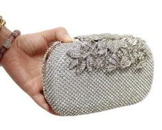2016 Luxury Diamond Gold Evening Bags Peacock Silver Clutch Crystal beaded Evening Clutch rings wedding party purse w326