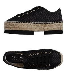 Woven leather espadrille sneaker with partial platform by Palomitas by Paloma Barceló. Platform height: 4.5 cm (1.8″). $162 on YOOX.