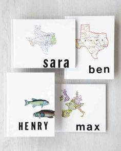 Before going on vacation, personalize blank journals for your kids so they can record their own memories. Spell their names in adhesive letters on the covers, and glue on a thematic cutout, like a map or picture. (Just don't be surprised when they document the hotel pool and ignore the Alamo.)