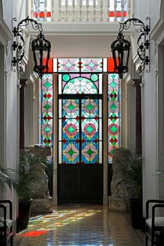 Glass art Mosaic - Glass art Sculpture Beautiful - Victorian Stained Glass art - Wine Glass art How To Make Stained Glass Door, Stained Glass Panels, Stained Glass Designs, Leaded Glass, Door Design, House Design, L'art Du Vitrail, Decoration Entree, Stained Glass