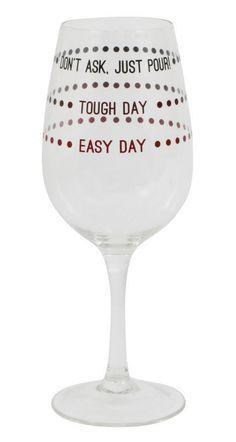 'Pour' Wineglass