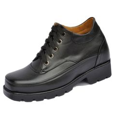Black add height shoes GEQ 10cm / 3.94inch with the SKU:MENSS_120 - Get Taller 4inch / 10cm height increasing shoes black elevator casual shoes