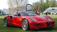 Alfa Romeo Diva is a concept shown at the Geneva Motor Show in design… Alfa Cars, Alfa Romeo Cars, My Dream Car, Dream Cars, Aston Martin, Maserati, Ferrari, Jaguar Xj13, Divas