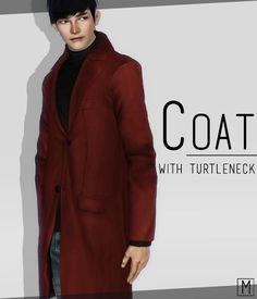 LittleM_Sim: 【Clothes】TS3 - Coat with Turtleneck_M