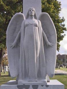 Calvary Cemetery, Evanston IL: Lydon Monument Evanston Illinois, John Evans, Land Of The Living, Cemetery Angels, Autumn Rain, Famous Graves, Chicago Photos, Northwestern University, Angels Among Us