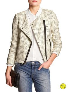 Factory Bouclé Moto Jacket Product Image