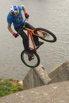 Danny MacAskill. My favorite bicycle trials rider...He carrys out trials moves I cant.get outa my head.