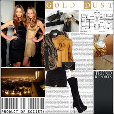 """""""gold dust"""" by lifestyle-ala-grace ❤ liked on Polyvore"""