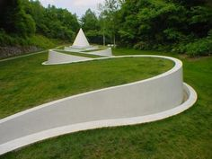 "Dani Karavan: ""Way to the Hidden Garden"", 1992–99. Sapporo Open Air Sculpture Park, Sapporo, Japan."