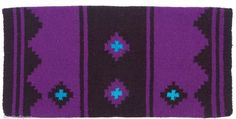 Mayatex Saddle Blanket - Apache - Black and Purple by Mayatex. $21.89. The Apache by Mayatex is an economical sho blanket, durable and great looking. Each tightly woven with acrylic yarn.. Save 24%!
