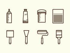 Tools Of: The Painter Adam Whitcroft  https://dribbble.com/shots/436837-Tools-Of-The-Painter?list=users&offset=62