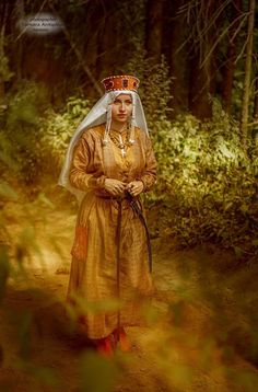 Russian medieval costume.