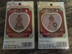 Set Of Two Counted Cross Stitch Christmas by www.tellyourstorytoo.etsy.com #TELLYOURSTORYTOO #countedcrossstitchkits #stitchkits #crosssstitch