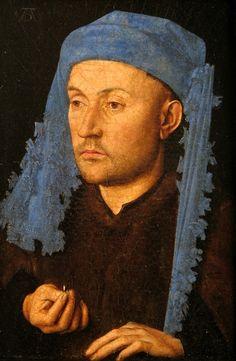 Jan Van Eyck - L'homme au chaperon bleu - 1430