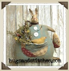 Country and Primitive Easter and Spring Home Decor Items at HugsAndStitches.com
