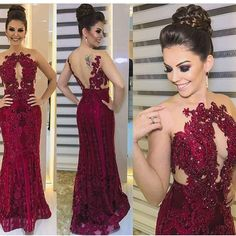 Sexy Mermaid Lace Red Beading Backless Prom Dress by dresses on Zibbet Evening Dress Long, Evening Dresses, Formal Dresses, Backless Prom Dresses, Bridesmaid Dresses, Wedding Dresses, Dress Prom, Party Dresses, Party Outfits