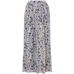 Somerset by Alice Temperley March Meadow Maxi Skirt, Blue ($96) ❤ liked on Polyvore featuring skirts, maxi skirts, bottoms, faldas, long blue skirt, blue maxi skirt, boho maxi skirt, long skirts and floral maxi skirt