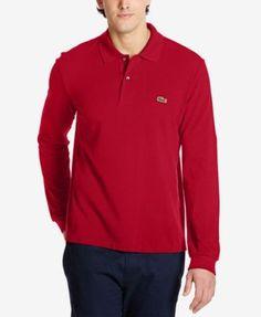 LACOSTE Lacoste Men'S Long Sleeve Pique Polo . #lacoste #cloth # polos